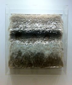 """Madeleine Bosscher -- """"Golf (Wave)"""", 1971 __ made with stacked pieces of cellophane tape. At the Stedelijk museum."""