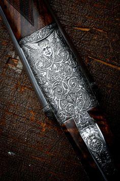 Engraved Shotguns Too Beautiful To Shoot Photos) - Suburban Men Wusthof Knives, Metalarte, Metal Engraving, Engraving Ideas, Watch Engraving, Custom Engraving, Shooting Guns, Shooting Sports, Custom Guns