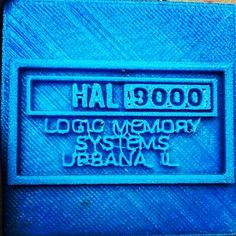 Something we liked from Instagram! Tried printing the hal 9000 plate super small! #3dprinting #3dprint #3dprinter #3dprinting #3dprinters #3dprints #technology #tech #3d #filament #fdm #printing #gadgets #3dprinted #printer #abs #pla #plastic #plate #blue #hal #hal9000 #9000 #super #small #cool by my3dprints_official check us out: http://bit.ly/1KyLetq