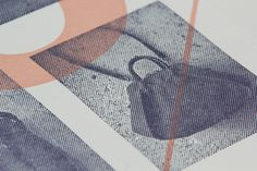 Print with half-tone tinted image detail designed by Blok for luxury bag, clothing and accessories brand Hoi Bo.