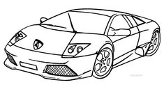 lamborghini murcielago coloring pages Transportation Coloring