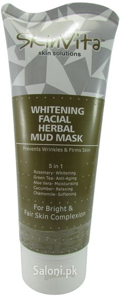 SkinVita Whitening Facial Herbal Mud Mask styles you appear young and even good-looking as it comprises uncontaminated herbal extracts benefits.