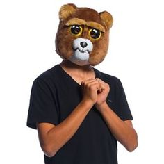 This Feisty Pets Sir Growls-A-Lot Moveable Mask looks like an ordinary cute cuddly teddy bear, but when activated turns into a scary nightmare teddy! Unique Costumes, Costumes For Teens, Creative Halloween Costumes, Disney Costumes, Adult Costumes, Trendy Halloween, Halloween Kids, Villain Mask, Bears