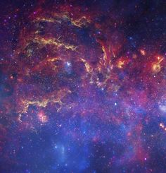 In this spectacular image, observations using infrared light and X-ray light see through the obscuring dust and reveal the intense activity near the galactic core. Tapestry is Made of 100% polyester and is available in various sizes. -100% Polyester Tapestry-Machine Washable-Super Soft-Please note that our tapestries come with a grommet in each corner to assist with hanging