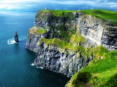 Cliffs of Moher, Ireland. Beautiful, but the majesty of seeing it in person is breath-taking.