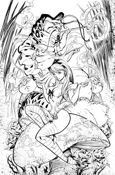 Alice In Wonderland - Inks by J-Skipper.deviantart.com on @deviantART