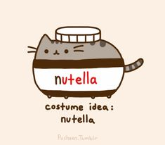The all new cat-in-a-nuttella-jar costume! If you like Pusheen-and nuttella, it's all together in a great product!
