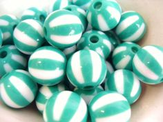 20x 12mm Resin Watermelon Globe beads in Green and by CuteCornwall, £2.25