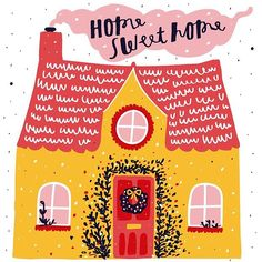 House illustration by nikki miles House Illustration, Illustrations, Koala Illustration, Illustration Flower, Art Inspo, Art Projects, Christmas Cards, How To Draw Hands, Decoration