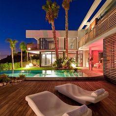 Colorful Miami mansion.