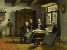 David Adolph Constant Artz - In het weeshuis te Katwijk-Binnen - Adolph Artz - Wikipedia La Haye, Inside Art, Virtual Art, Dutch Painters, Modern Artwork, Vintage Artwork, Modern Artists, Beautiful Paintings, Classic Paintings