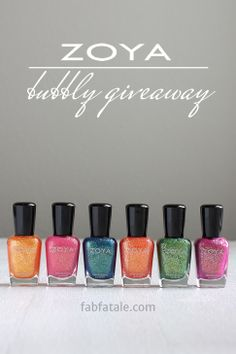 I just entered to win the entire Zoya Bubbly collection at http://www.fabfatale.com/2014/05/manicure-mondays-zoya-bubbly-giveaway/ #nailpolish #giveaway #zoya