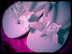Butterfly Fancy Flip Flops