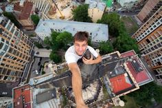 Whatever you do, don't look down! These vertigo-inducing photos, shot by daredevil Yaroslav Segeda, certainly aren't for the faint of heart. Pictures Of The Week, Weird Pictures, Reaching For The Stars, Best Cities, Great View, Life Images, Photo Library, Amazing Photography, Urban Photography