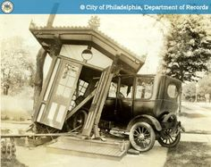 PhillyHistory - Ford Sedan in Collision with Park Booth
