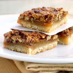 Pecan Pie Bars - Click image to find more Food & Drink Pinterest pins...oh dear!!