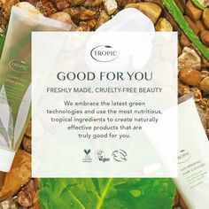 If you are looking for a new skincare routine in 2019 (that rhymes lol) then look no further than the truly amazing Tropic range. Drop me a comment! Natural Face Cream, Natural Skin Care, Hair Cleanse, Face Skin Care, Vegan Beauty, Cruelty Free, Tropical, Skincare Routine, Tropic Quotes
