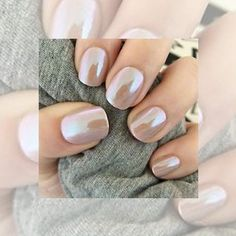 Nude Nails: 30 Nude Color Nail designs From minimalistic matte manicures to unique metallic, beaded nude nail art, we've gathered 30 of or favorite most beautiful nude nail designs for inspiration. Bridal Nails, Wedding Nails, Bridal Pedicure, Wedding Nail Colors, Glitter Wedding, Colorful Nail Designs, Nail Art Designs, Nails Design, Salon Design
