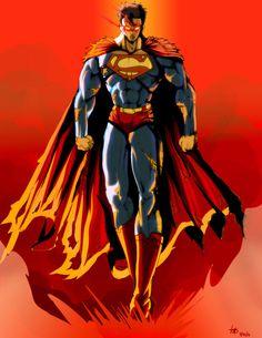 Superman fan art by Superman Artwork, Superman Comic, Batman, Superman Stuff, Superman Family, Superman Man Of Steel, Dc Comics Characters, Smallville, Comic Books Art