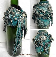 1 million+ Stunning Free Images to Use Anywhere Wine Bottle Charms, Glass Bottle Crafts, Wine Bottle Art, Diy Bottle, Bottle Vase, Bottles And Jars, Glass Bottles, Decoupage Jars, Wine Craft