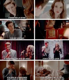 What Barry was really thinking #SnowBarry ⚡️ #TheFash