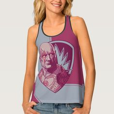 Guardians of the Galaxy Vol. 2   Drax Badge Tank Top   Marvel Comics Tank Tops For Teens and For Women   Marvel Fans