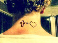 #crossequalslove tattoo