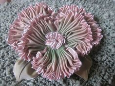 French Ombre Vintage Style Millinery Ribbon Pansy Flower Pin   eBay