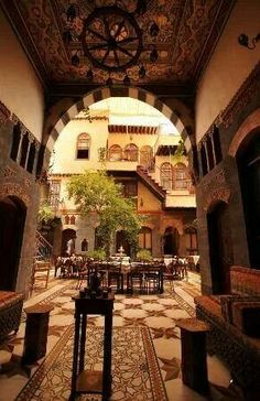 Damascus courtyard home. Syria - Old Damascus                                                                                                                                                                                 More