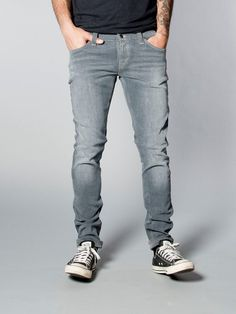 Tight Long John Organic Charcoal - Nudie Jeans Co Online Shop
