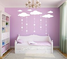 Cloud Decal Falling Star Decal Cloud by GetCreativeStudios on Etsy