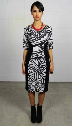 Rock the island look in the office with this gorgeous dress from MENA.