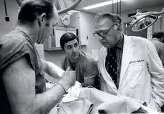 Mark M. Ravitch: A Surgeon's Surgeon - a new finding aid improves access to the papers of this pediatric surgeon and medical educator. Image: Ravitch providing instruction during one of his stapling workshops at Montefiore Hospital, ca. 1975. MS C 616, Mark Ravitch Papers, Postgraduate course use of in staples in surgery, 1974-1976.