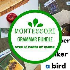 This set includes over 25 PAGES of printable Montessori Grammar cards including:Noun Sorting CardsProposition CardsArticle, Adjective, Noun CardsHomophone CardsYou might also enjoy:Montessori Pink Series BundleMontessori Pre-Reading BundleMontessori Blue Series BundleIf you have a moment and would like to earn credit for your TPT purchases, please leave this product feedback.