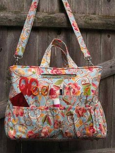 This clever tote boasts over 40 pockets of varying sizes to hold all of your tools and notions,