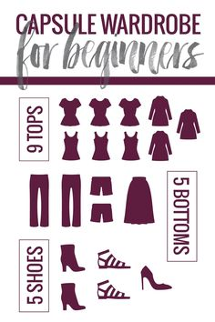 How to start a capsule wardrobe without going crazy. Perfect for beginners - with free printable guides to help you get started! | pinchofyum.com