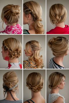 beautiful updos for future events. some seem simple enough to do yourself.