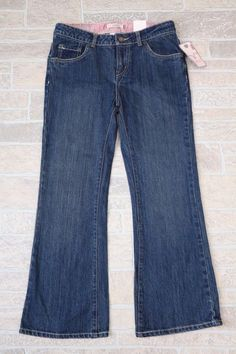 NWT Levis 517 Stretch Flare Adjustable Waistband Girl 12.5 12 1/2 Plus Dark Wash #Levis #Flare #Everyday