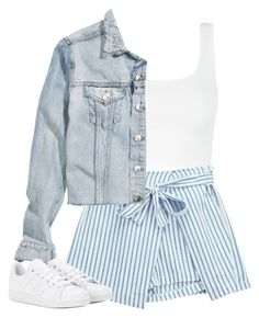 """""""Casual Outfit"""" by mayalexia ❤ liked on Polyvore featuring Chicnova Fashion, H&M and adidas"""