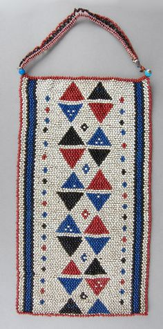 South Africa | Pectoral / chest ornament; glass beads, natural fiber. Possibly from the Zulu people | ca. 1922 or earlier: