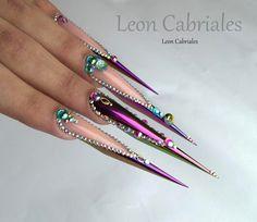 "Gefällt 475 Mal, 5 Kommentare - Leon Cabriales (@leon_cabriales) auf Instagram: ""New form Flex! Gypsy princess design  #nails #nail3d #nailss #nailpolish #nailswag #naildesign…"""