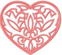 Heart lace free embroidery design. Machine embroidery design…