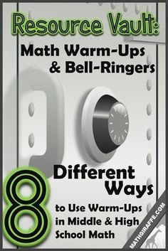 8 Unique Formats for Math Warm-Ups - Ideas, strategies, and resources from a few middle and high school math teachers: Combine a few of these for a well-rounded but consistent routine. Math 8, 7th Grade Math, Math Teacher, Math Classroom, Fun Math, Math Games, Teaching Math, Math Activities, Teaching Ideas