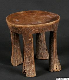 Humbe, Angola stool. Stockholm world cultures museum