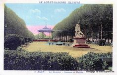 Agen jardin du gravier au début du XXeme siècle