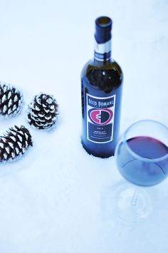 Ecco Domani's Merlot is bursting with a sweet blackberry flavor that really pops when chilled! Set it in the snow for a last-minute chill.
