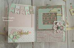 How to Make A Paper Bag Scrapbook – Scrapbooking Fun! Mini Albums Scrap, Mini Scrapbook Albums, Baby Scrapbook, Scrapbook Pages, Baby Mini Album, Paper Bag Scrapbook, Mini Album Tutorial, Book Making, Mini Books