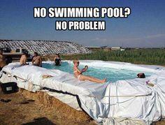 Hay bale pool!