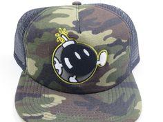 f735922ad03e3 Super Mario BOB OMB Camo Bioworld Snapback Hat  Bioworld  BaseballCap New  Era Snapback,