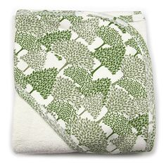 Kate Quinn Organic Unisex-baby Hooded Towel, Onesize (Evergreen Forest)
